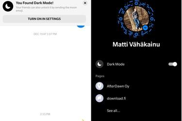 Tällä kikalla saat Facebook Messengeriin yömoodin – toimiiko sinulla?