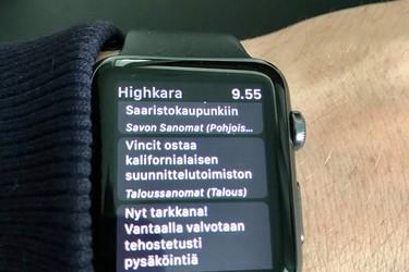 Nyt saat kaikki Suomen uutiset myös älykelloon!