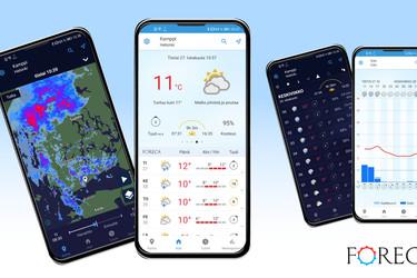 Foreca päivitti sovelluksensa tukemaan paremmin Huawein uusia puhelimia