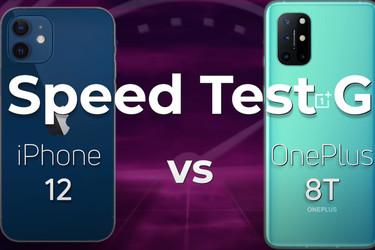 Nopeustestissä vastakkain iPhone 12 ja OnePlus 8T