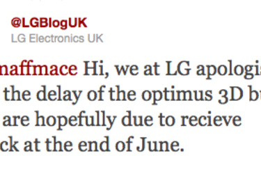 LG:n 3D-puhelin myöhästyy