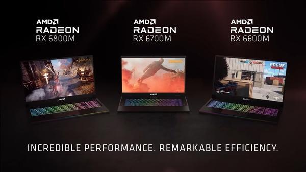 AMD julkaisi Radeon RX 6000M -sarjan näytönohjaimet kannettaviin tietokoneisiin