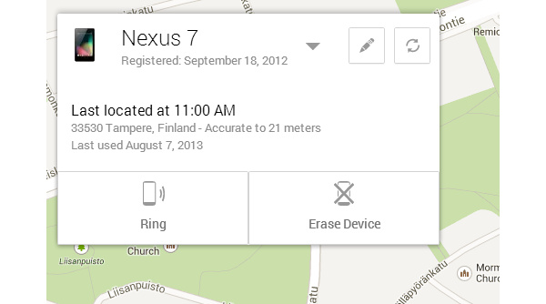 Google otti käyttöön työkalun kadonneen Androidin etsintään