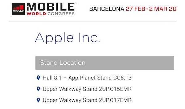 Apple to attend MWC first time ever