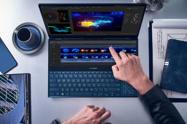 Kahdella näytöllä varustettu Asus ZenBook Pro Duo kannettava tietokone nyt saatavilla