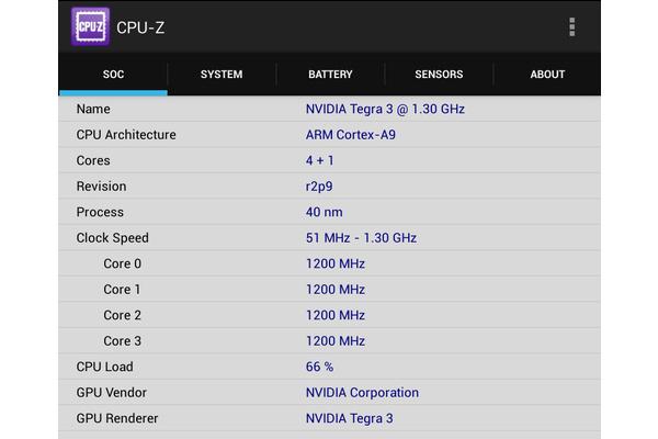 Tietokoneista tuttu CPU-Z kertoo myös Android-laitteiden sisuskalut