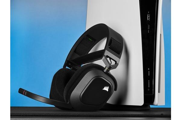 Corsairilta langattomat HS80 RGB WIRELESS -pelikuulokkeet PC- ja PS5-pelaamiseen