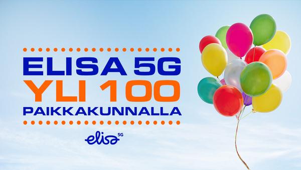 Elisan 5G-verkko käytössä sadalla paikkakunnalla - alueella asuu puolet suomalaisista