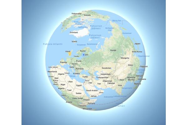 Huomasitko muutoksen Google Mapsissa? Grönlanti ei ole enää Afrikan kokoinen