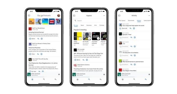 Googlen Podcasts -sovellus toimii nyt Applen iOS-laitteilla