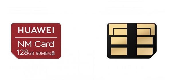 Huawei korvaa muistikortit pienemmillä NM-korteilla