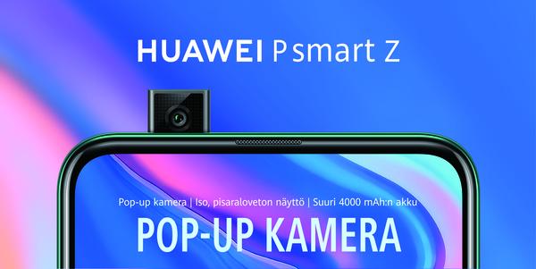 Huawei toi alle 300 euroa maksavan, pop-up-kameralla varustetun, mallinsa myyntiin Suomessa