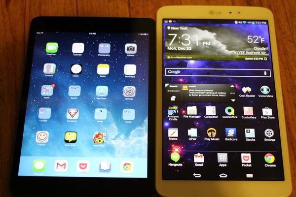 Comparing the two best mid-sized tablets: The Apple iPad Mini with Retina vs. The LG G Pad 8.3
