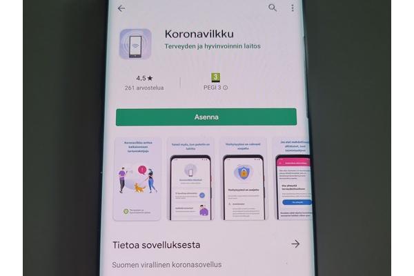 Suomen virallinen koronatartuntojen jäljittämiseen tarkoitettu Koronavilkku-sovellus nyt ladattavissa