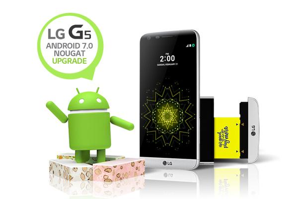 LG aloittaa G5:n päivittämisen Android Nougatiin