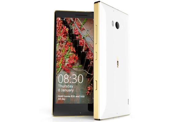 Bling-bling: Nokia Lumia 930:stä ja 830:stä julkaistaan kullanväriset mallit