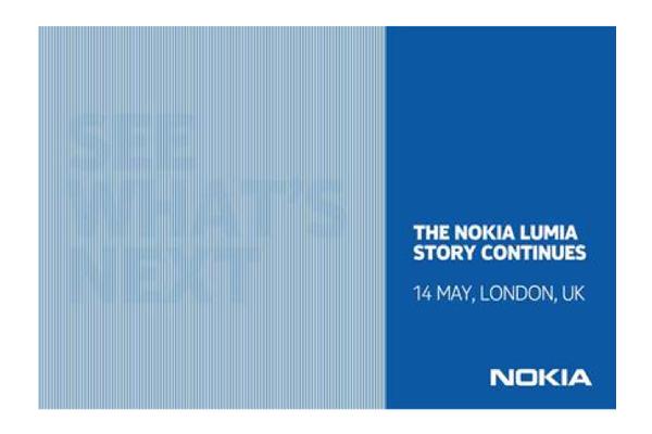 Nokian seuraava Lumia-julkaisu toukokuun 14. päivä