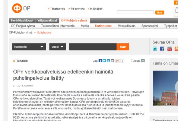 OP: Hyökkäyksistä edelleen uusia havaintoja - taustalla ryhmä suomalaisnuoria?