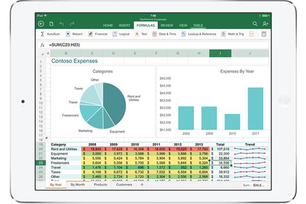 Microsoft julkaisi Office-sovellukset iPadille