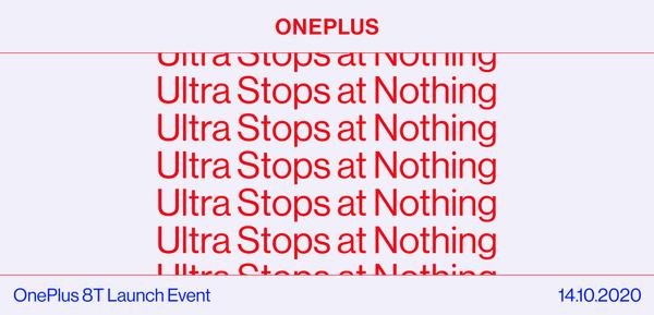 OnePlus esittelee 8T-huippupuhelimen 14. lokakuuta