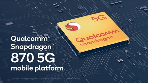 Qualcomm julkaisi Snapdragon 870 5G -järjestelmäpiirin