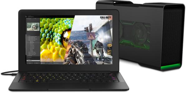 Razer esitteli tietokonekonseptin – Ultrabookiin pelitehoja ulkoistetulla näytönohjaimella