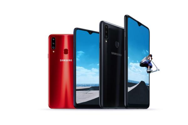 Samsungin edullinen Galaxy A20s sisältää kolme takakameraa ja 6,5 Infinity-V -näytön