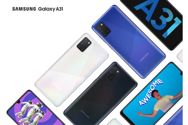 Samsung julkaisi Galaxy A31 -puhelimen: 5000 mAh akku ja neljä takakameraa