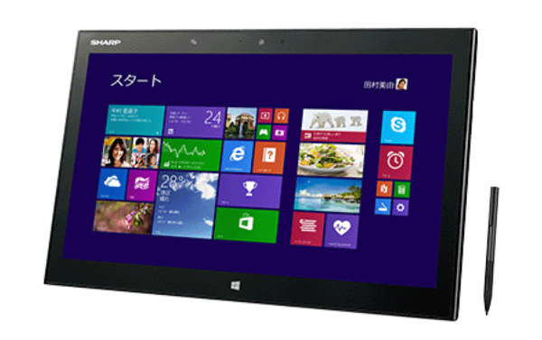 Sharpilta uusi 15,6 tuuman Windows 8.1 -tabletti 3200 x 1800 -resoluution näytöllä