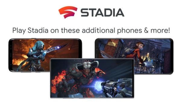 Googlen Stadia toimii pian useilla Samsungin puhelimilla sekä Asuksen ja Razerin pelipuhelimilla
