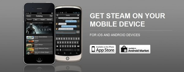Steam app headed to iOS, Android