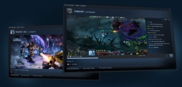Twitch sai kilpailijan: Valve esitteli Steam Broadcastingin