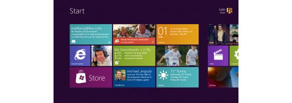 Windows 8:sta julkaistu uusia ruutukaappauskuvia