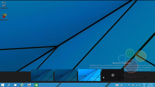 Uudella videolla: Windows 9:n tukee useaa työpöytää