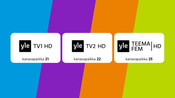 Ylen HD-kanavat näkyvät nyt antenniverkossa koko Suomessa