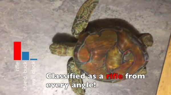 Tutkijat tekivät 3D-kilpikonnan, jota Google luulee kivääriksi