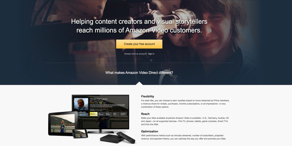Amazon starts its own YouTube rival, Amazon Video Direct