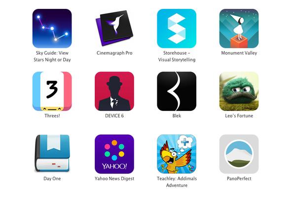 Apple palkitsi vuoden 2014 parhaiten suunnitellut sovellukset ja pelit
