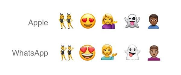 WhatsApp rips off iPhone emojis to create their own set