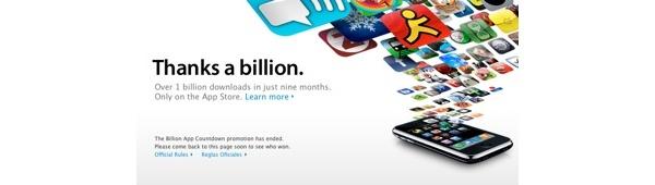 App Store pyyhkäisi miljardin latauksen ohi