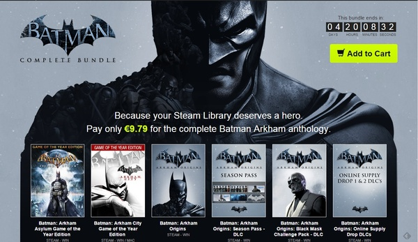 Batman Arkham collection on sale for $10