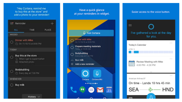 Microsoft päivitti Cortana-avustajaa Androidilla