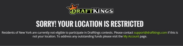DraftKings, FanDuel no longer available in NY