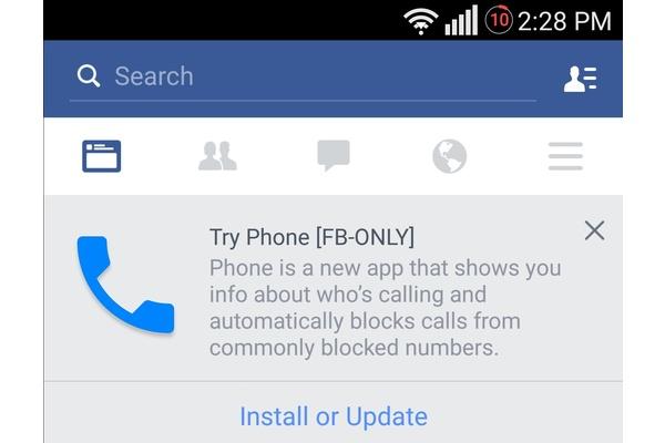 Facebook kehittää puhelinsovellusta