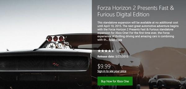 Microsoft makes 'Forza Horizon 2: Presents Fast & Furious' free for Xbox One, Xbox 360