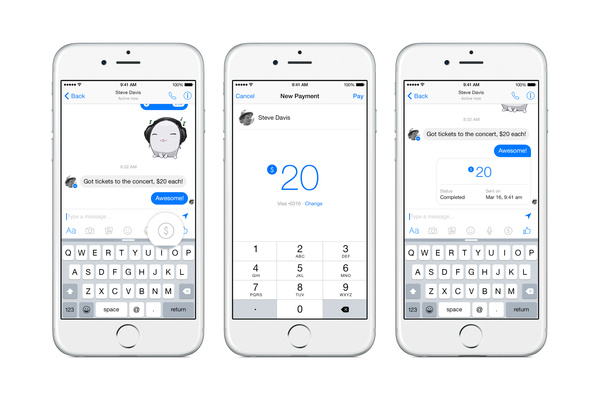 Facebook Messenger adds ability to send money to friends, family