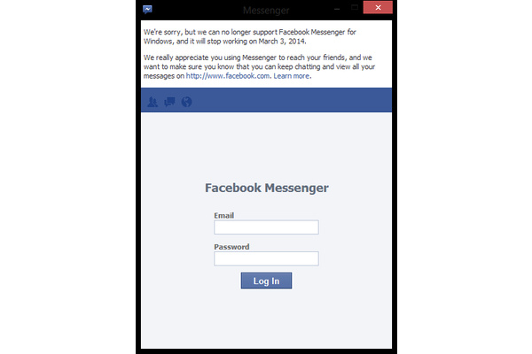 Facebook Messenger on Windows shutting down next week