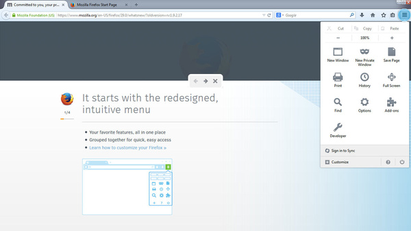 Firefox 29 has a new look, improved Sync feature