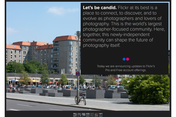 Free accounts van Flickr van 1 TB opslagruimte naar max 1000 foto's