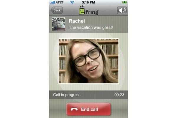 fring tuo videopuhelut Applen iPhoneen